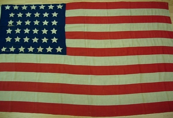 1876 - 38 US STAR COLORADO INDUCTION FLAG 8X6 FEET