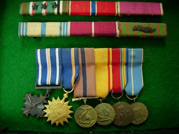 WWII OFFICERS DRESS MESS MEDAL LOT DFC MORE