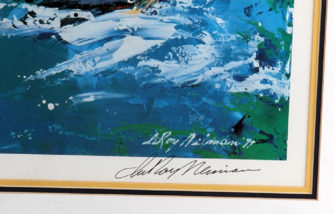 LEROY NEIMAN AMERICAS CUP LITHO SIGNED AND FRAMED - 3