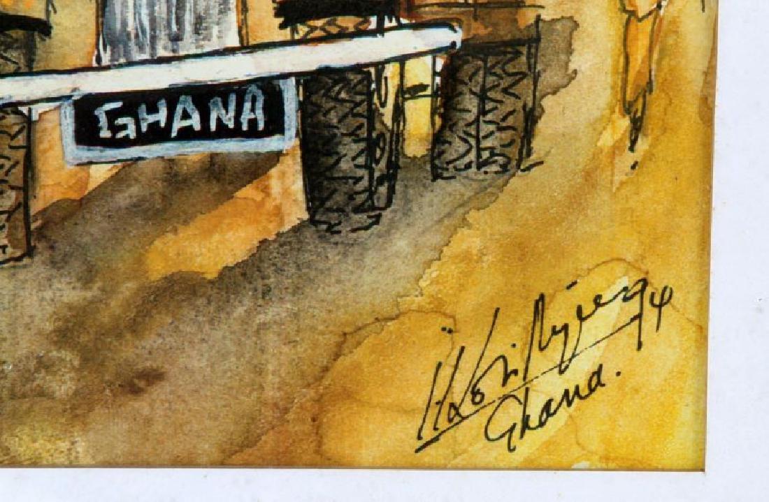 FEAR WOMAN WATERCOLOR BY JOHN KOFI ARYEE GHANA - 3