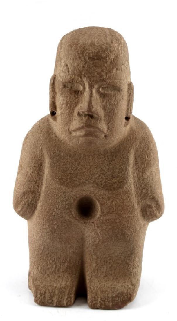 MESOAMERICAN STONE SCULPTURE AZTEC FIGURE 12 INCH