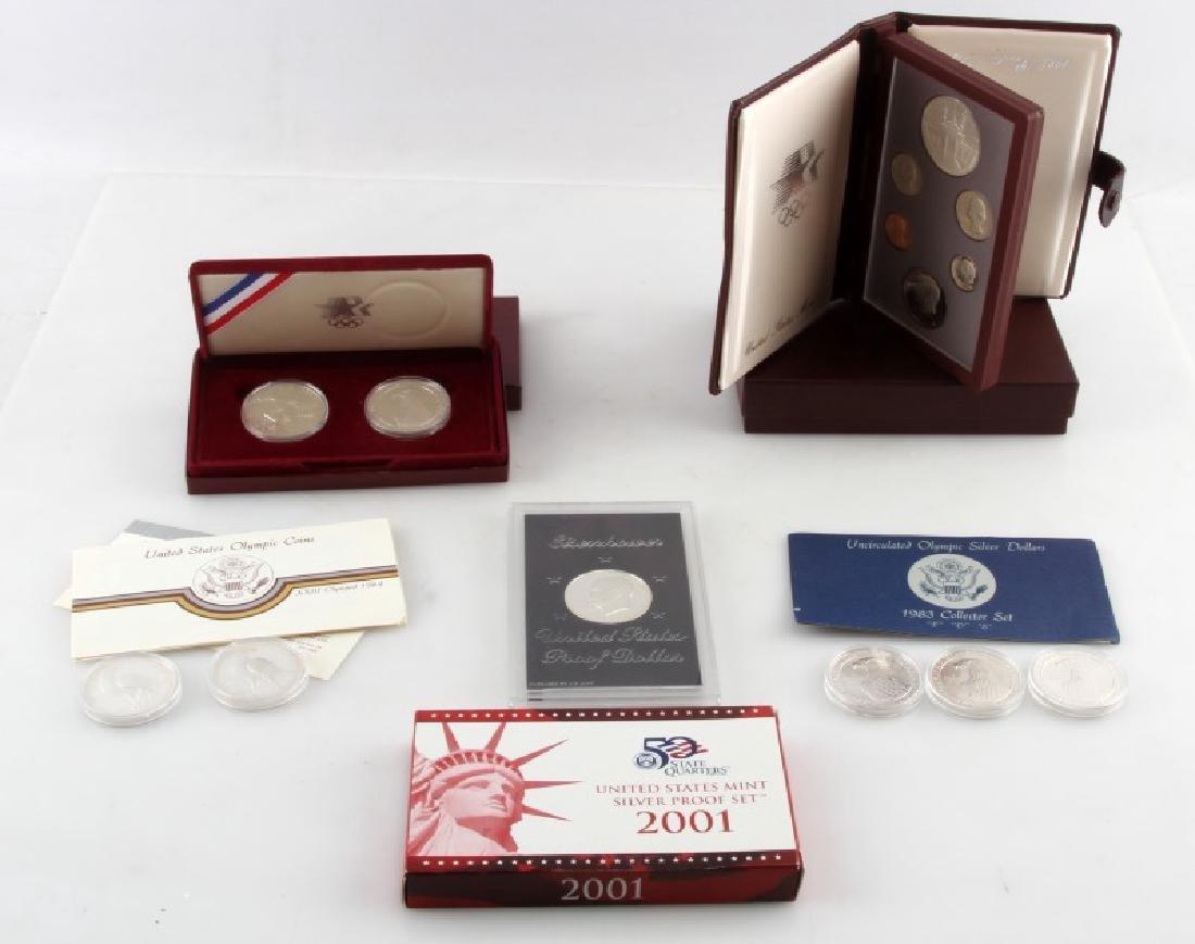 COIN LOT 1980 OLYMPICS 2001 PROOF SET IKE PDS SET