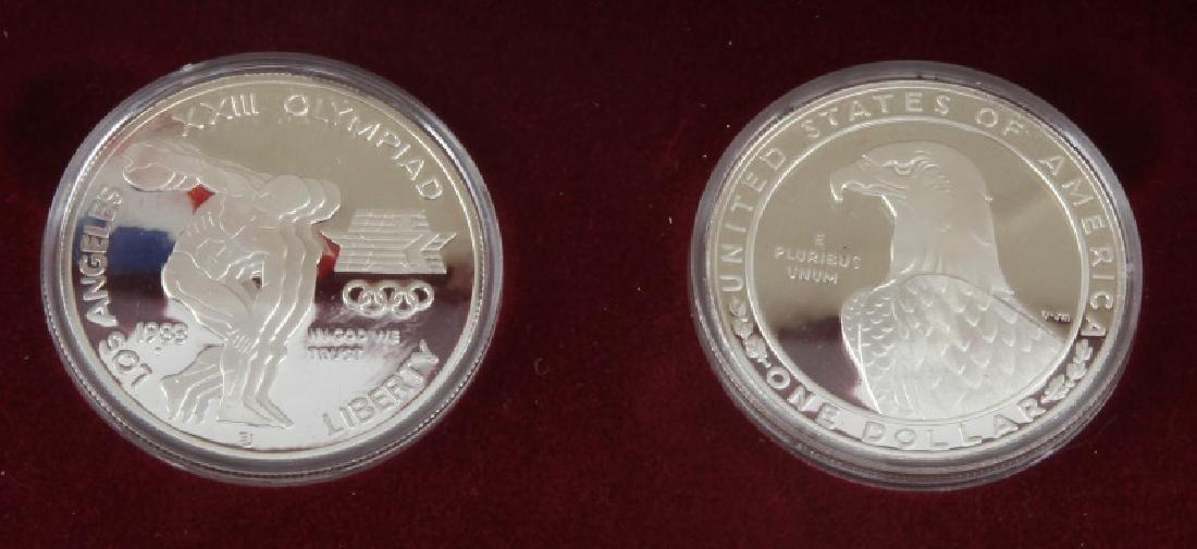 COIN LOT 1980 OLYMPICS 2001 PROOF SET IKE PDS SET - 2