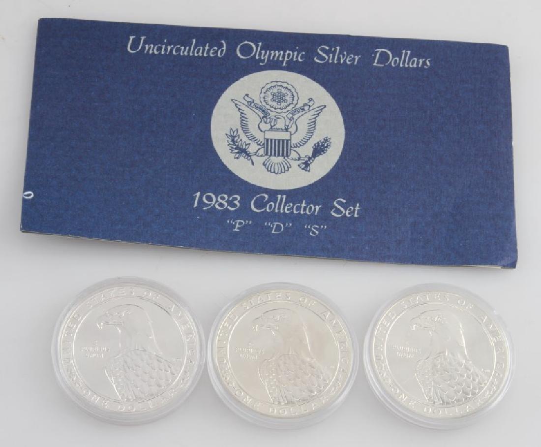 COIN LOT 1980 OLYMPICS 2001 PROOF SET IKE PDS SET - 3