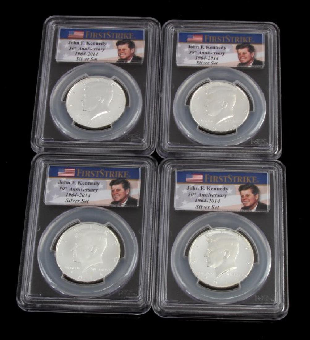 KENNEDY SILVER 50TH ANNIVERSARY COIN SET PCGS MS70