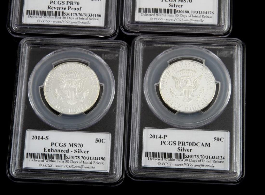 KENNEDY SILVER 50TH ANNIVERSARY COIN SET PCGS MS70 - 5