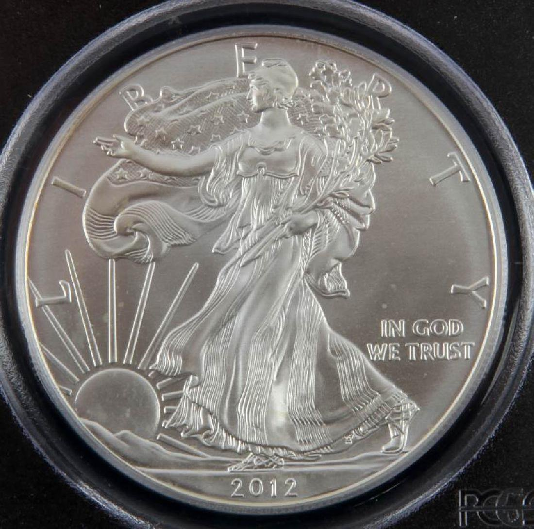 2012 SILVER EAGLE 1OZ COIN 1ST STRIKE MS70 SIGNED