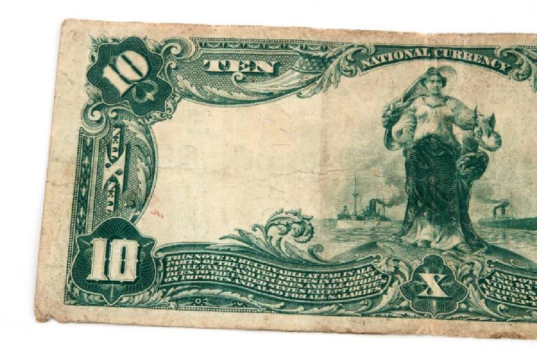 NATIONAL CURRENCY READING PA  $10 PLAIN BACK - 5