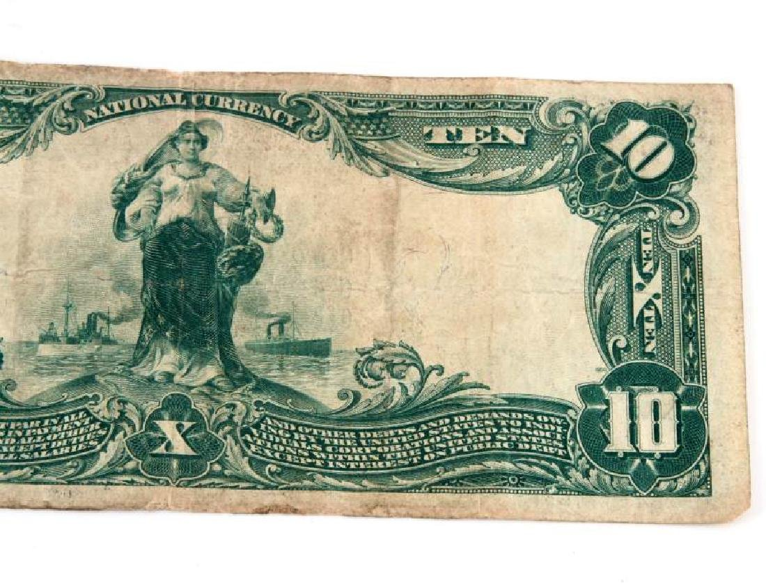 NATIONAL CURRENCY READING PA  $10 PLAIN BACK - 6