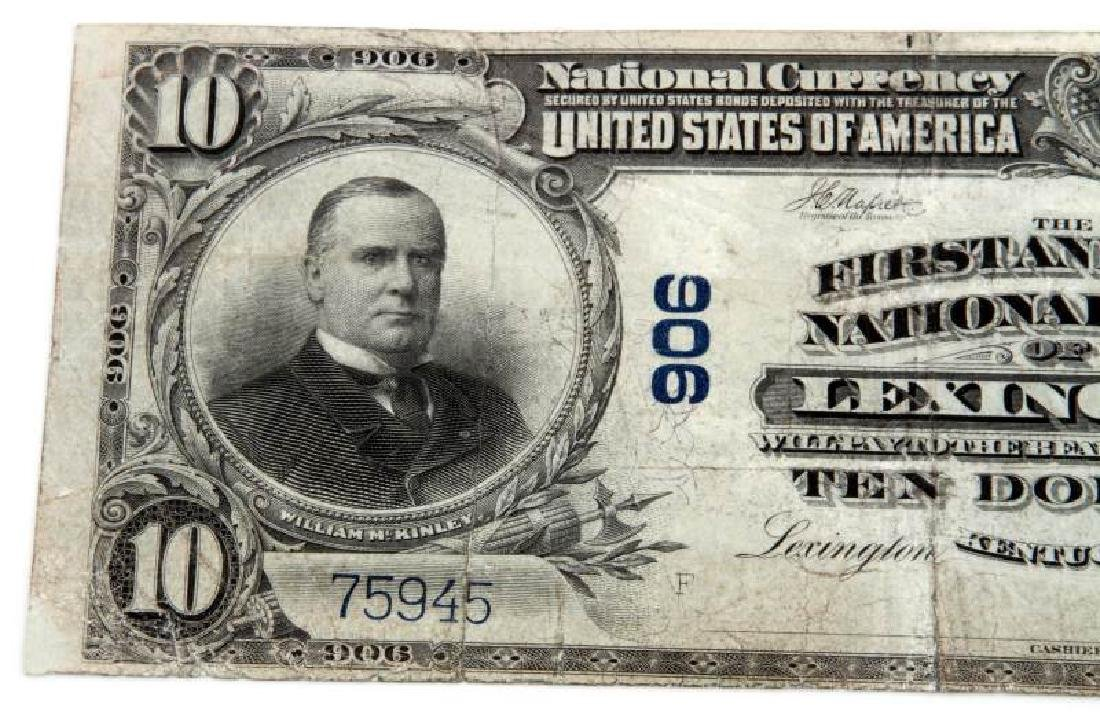 NATIONAL CURRENCY LEXINGTON KY $10 PLAIN BACK - 2