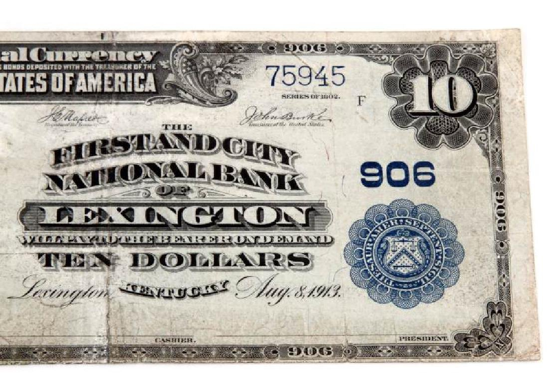 NATIONAL CURRENCY LEXINGTON KY $10 PLAIN BACK - 3