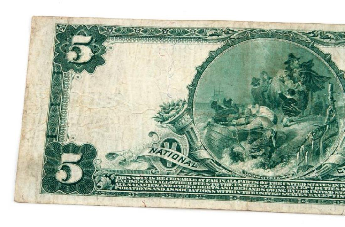 NATIONAL CURRENCY READING PA $5 PLAIN BACK - 5