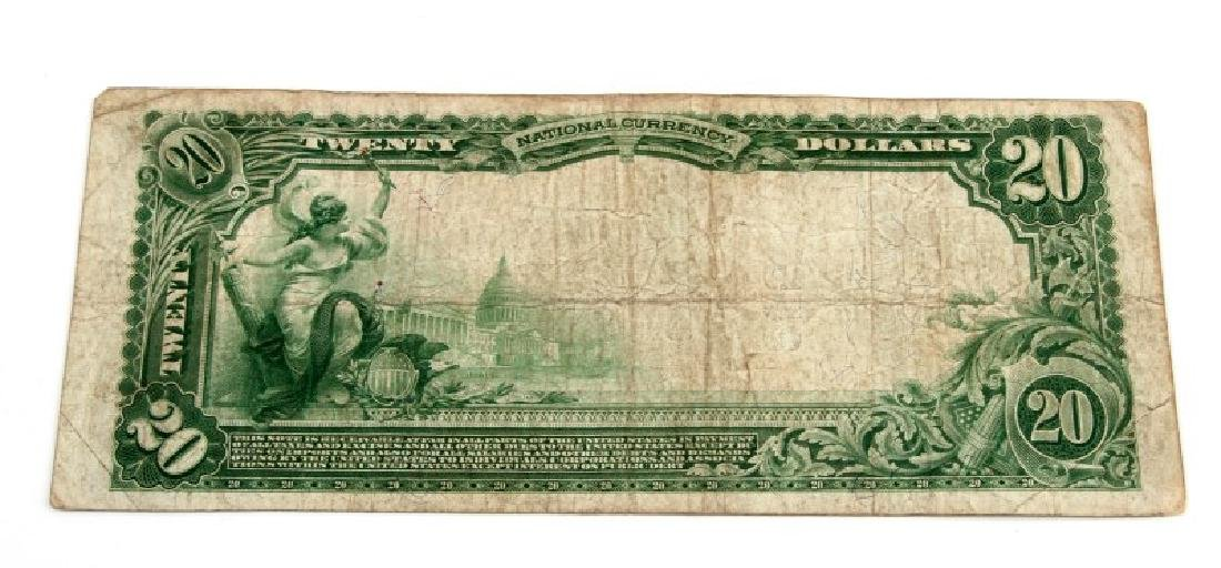 NATIONAL CURRENCY CLEARFIELD PA $20 PLAIN BACK - 4