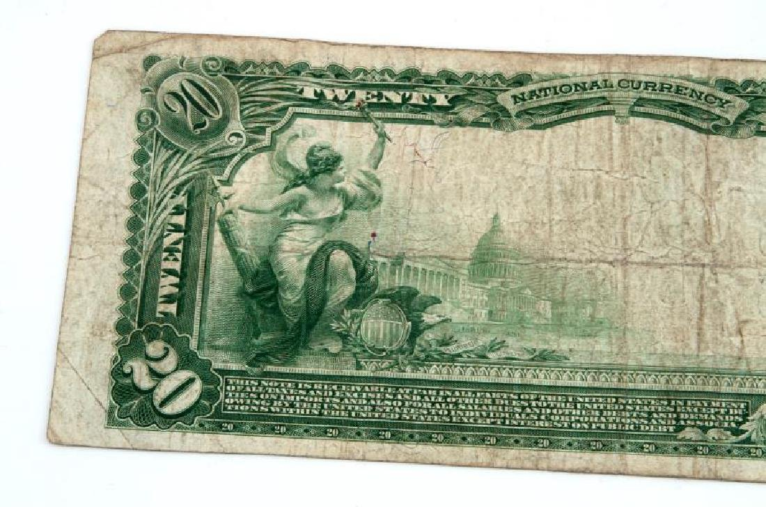 NATIONAL CURRENCY CLEARFIELD PA $20 PLAIN BACK - 5