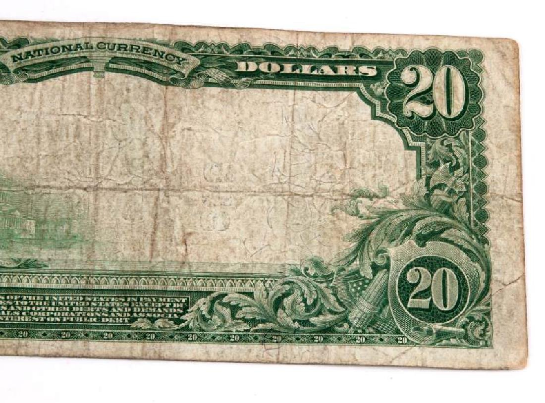 NATIONAL CURRENCY CLEARFIELD PA $20 PLAIN BACK - 6