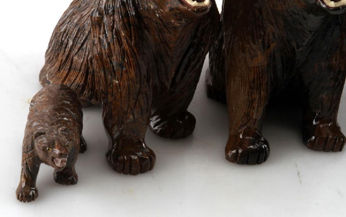 LOT OF 5 PERUVIAN STROMATOLITE BEAR SCULPTURES - 2