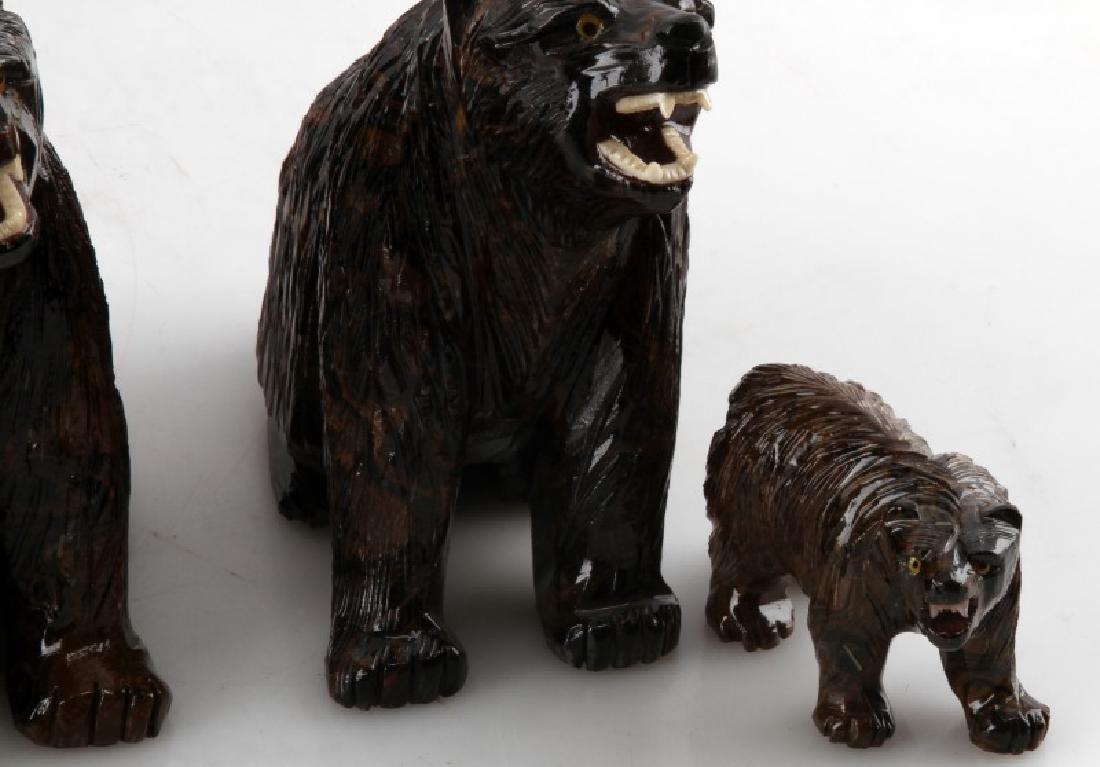 LOT OF 5 PERUVIAN STROMATOLITE BEAR SCULPTURES - 3