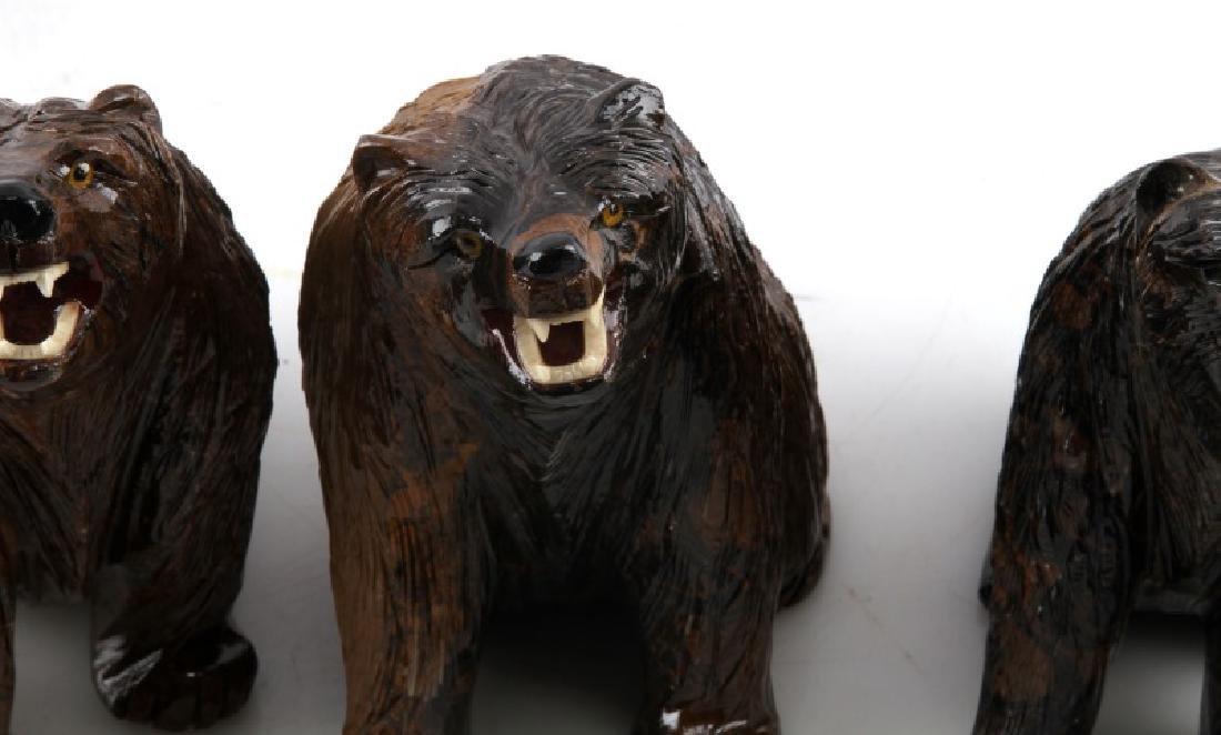 LOT OF 5 PERUVIAN STROMATOLITE BEAR SCULPTURES - 4