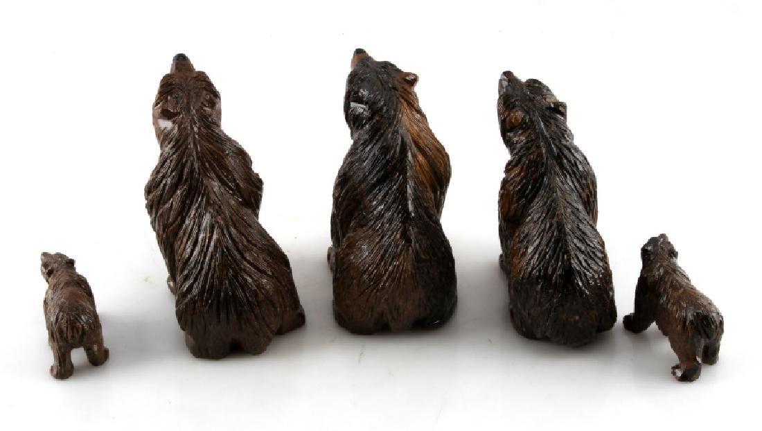 LOT OF 5 PERUVIAN STROMATOLITE BEAR SCULPTURES - 6