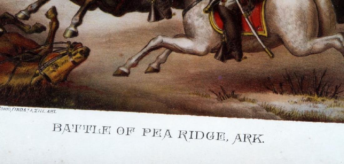 ANTIQUE KURZ & ALLISON LITHO BATTLE OF PEA RIDGE - 3