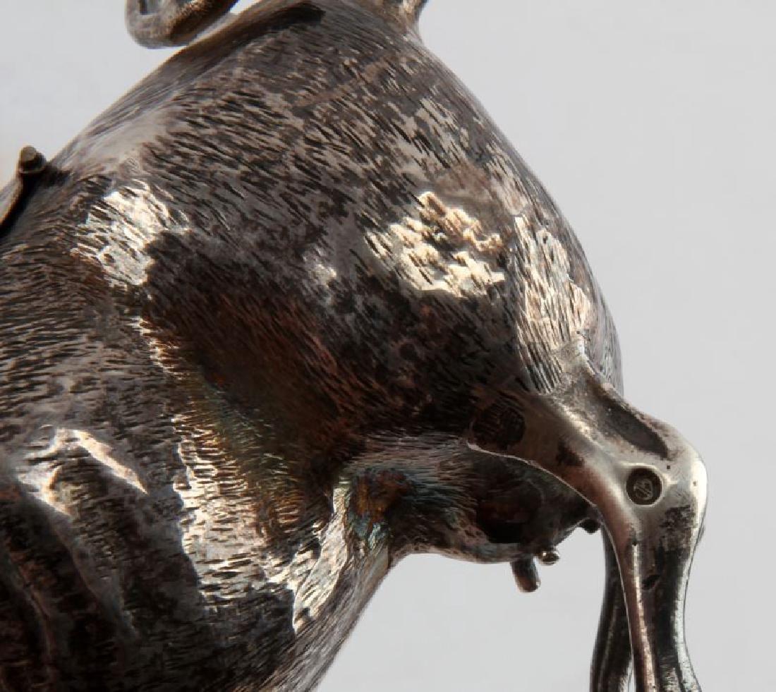 ANTIQUE DUTCH HALLMARK SILVER COW CREAMER - 6