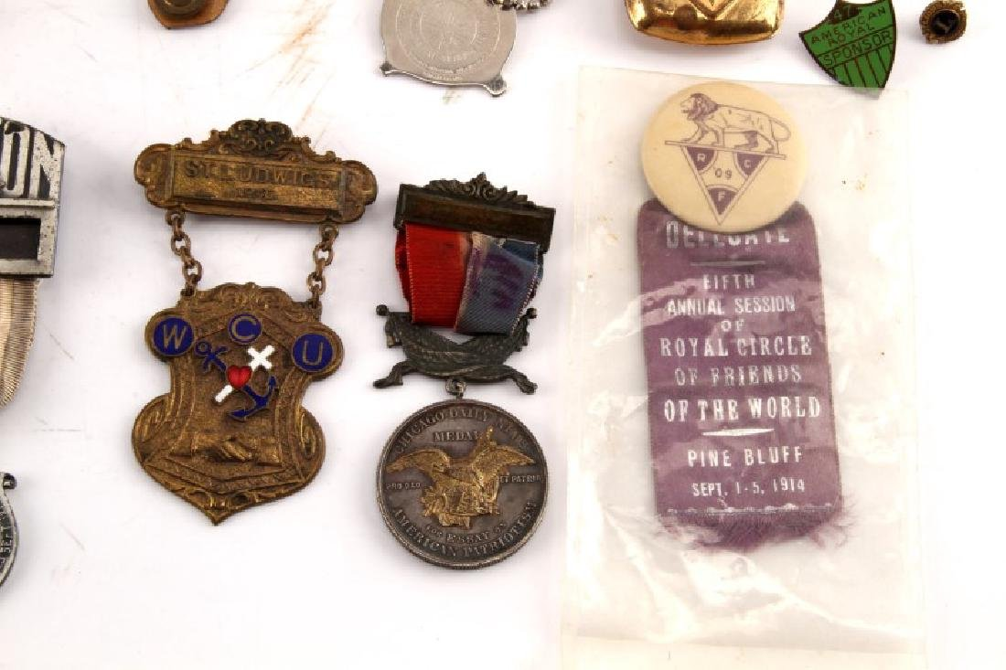LARGE LOT OF FRATERNAL PINS & CUFF LINKS & MORE - 6