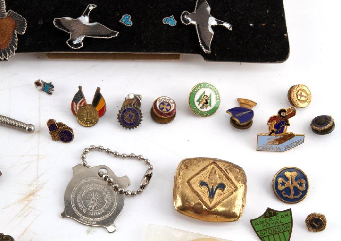 LARGE LOT OF FRATERNAL PINS & CUFF LINKS & MORE - 7