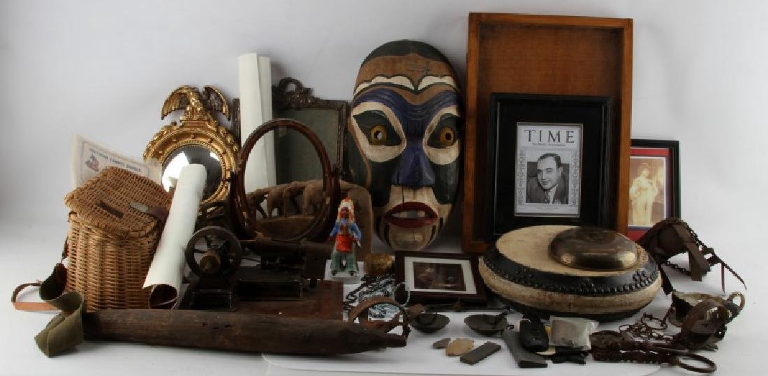 LARGE LOT OF ANTIQUES & COLLECTIBLED BIG VARIETY