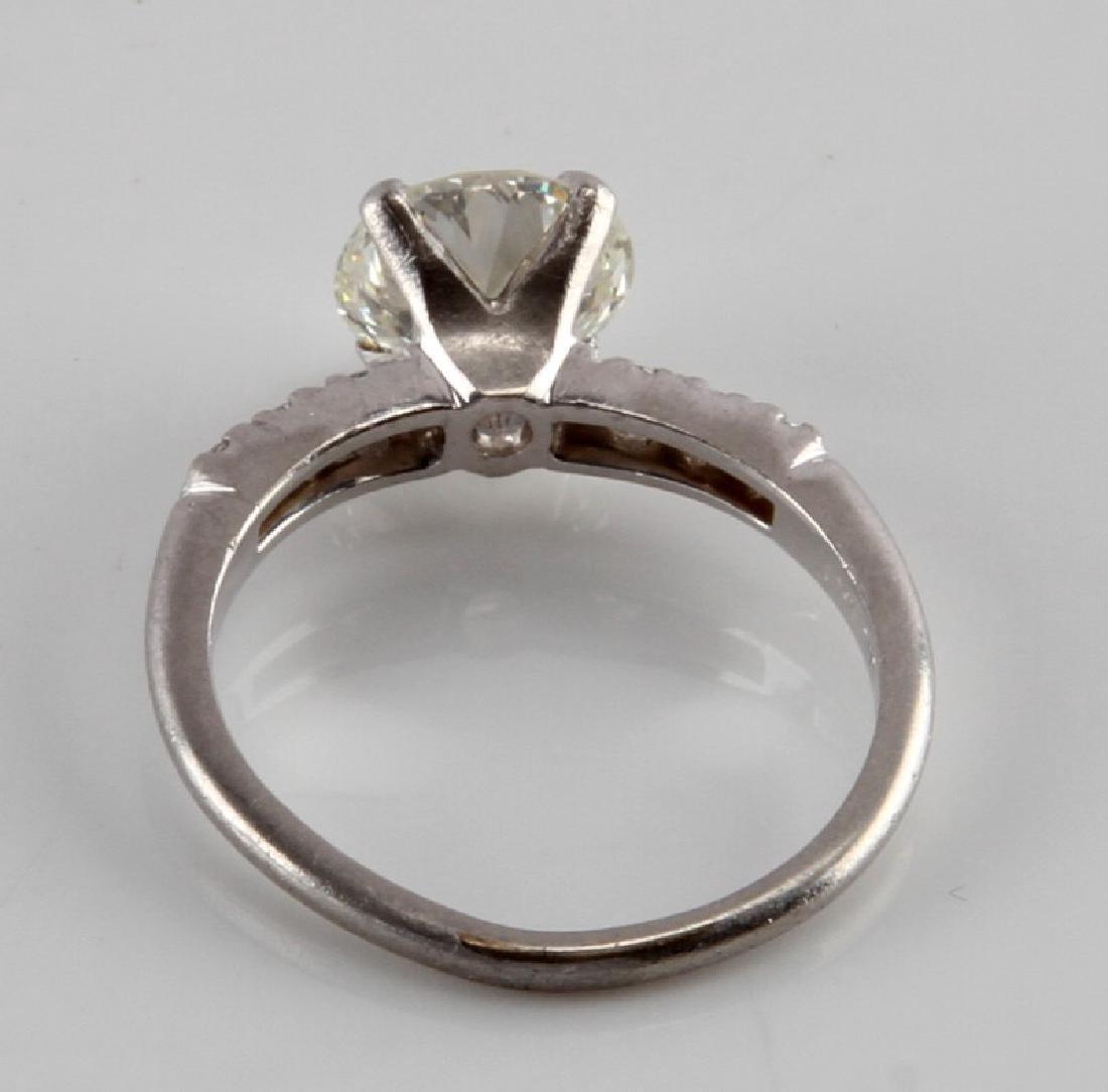 LADIES PLATINUM DIAMOND RING 2.28 TCW EUROPEAN CUT - 4