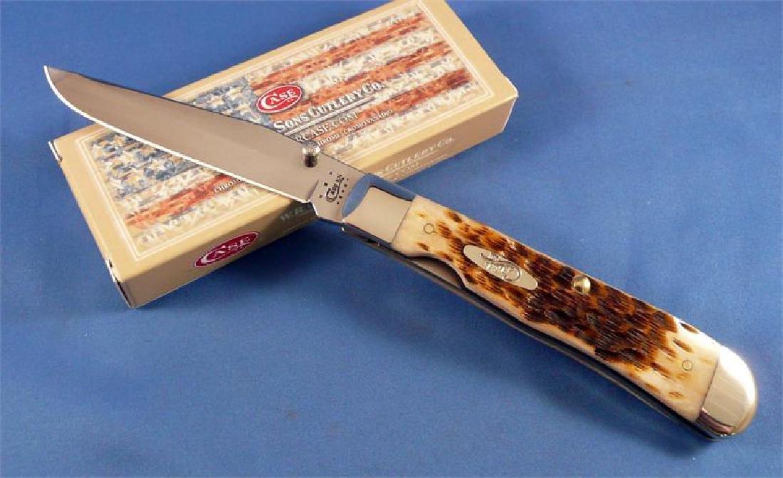 CASE XX CUTLERY 30024 AMBER TRAPPERLOCK KNIFE