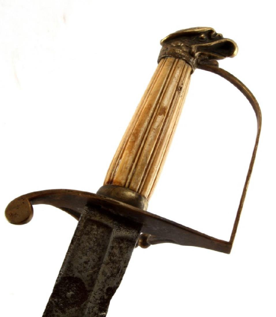 US OFFICERS EAGLE HEAD SWORD CIRCA 1805 W COA - 2