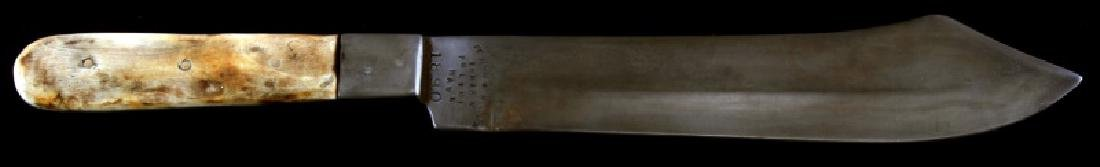 13 IN FT ROBINSON INDIAN POLICE HAWK KNIFE W BONE