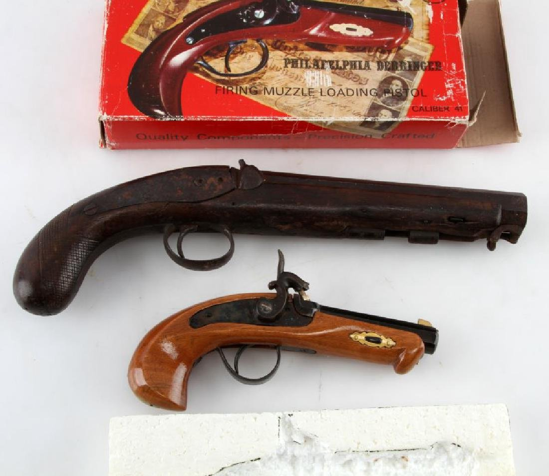 2 ANTIQUE PISTOLS PHILADELPHIA DERRINGER &ENGLISH - 3