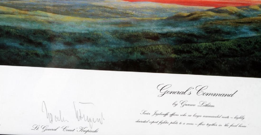 WWII GERMAN ADOLF GALLAND & STEINHOFF SIGNED PRINT - 4