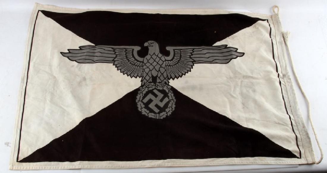 GERMAN WWII HEINRICH HIMMLER PERSONAL FLAG - 3