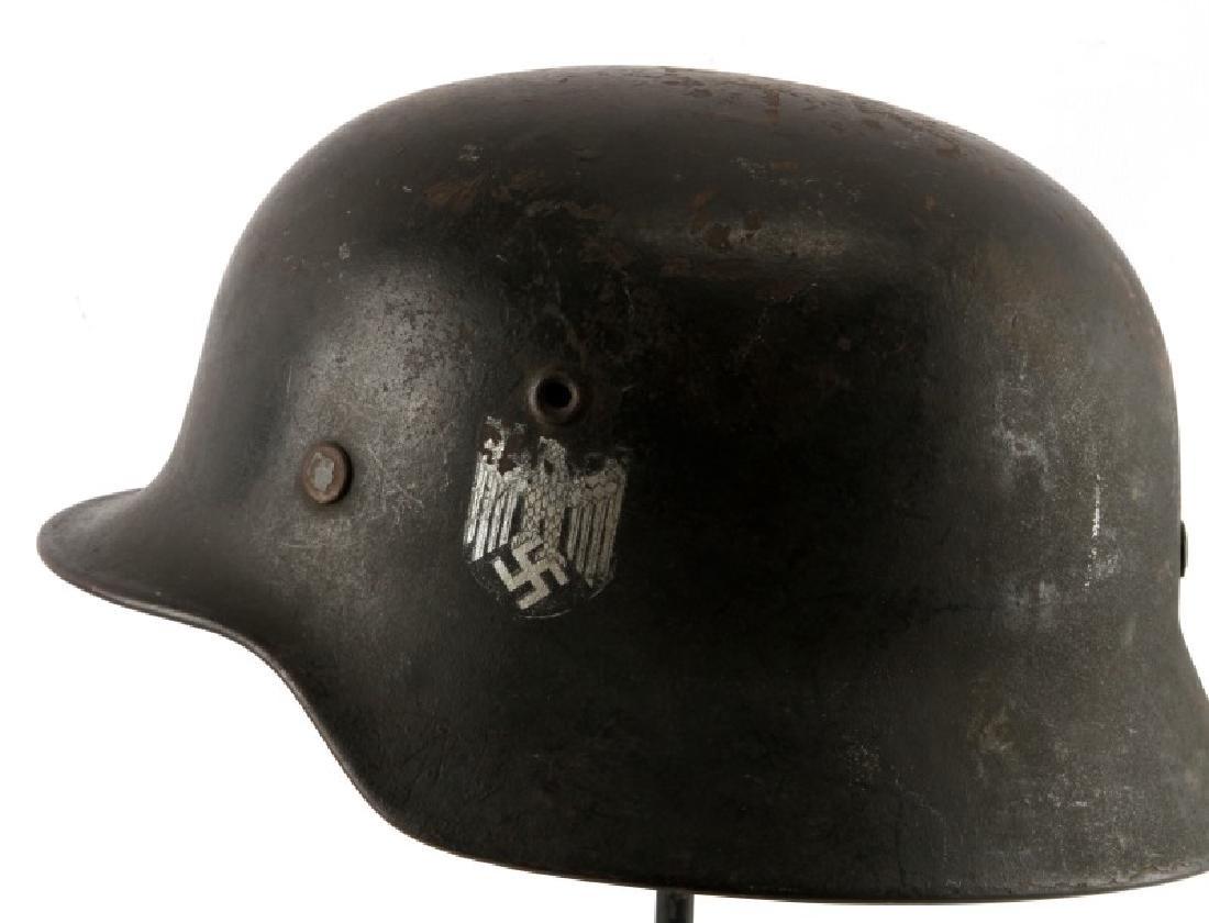 WWII THIRD REICH M40 ARMY HELMET SINGLE DECAL HEER - 4