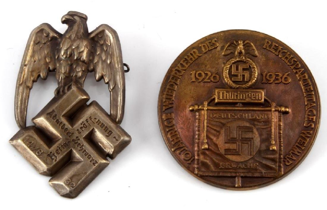 2 WWII GERMAN 3RD REICH LARGE EARLY TINNIES