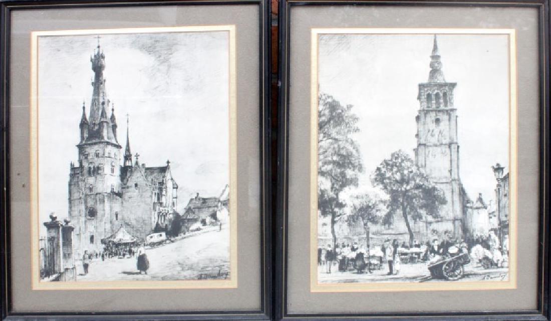 TWO ALBERT DANDOY LITHOGRAPHS OF NAMUR 1885-1977