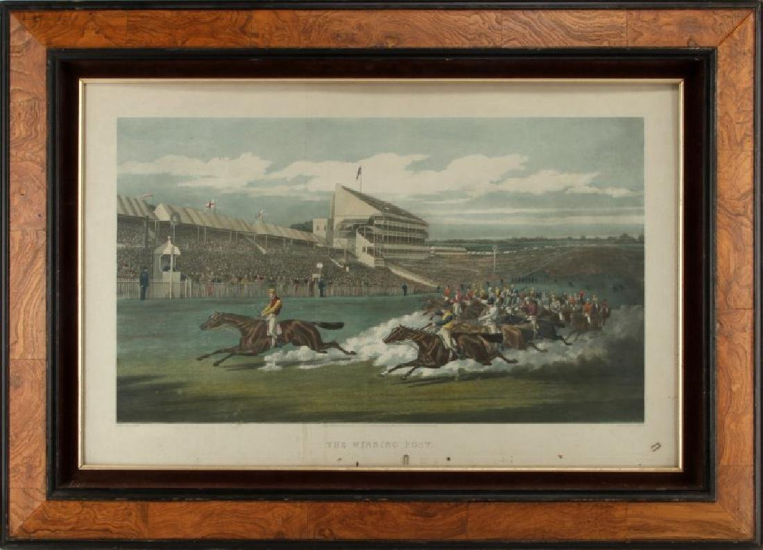 ANTIQUE ENGRAVING THE WINNING POST W SUMMERS