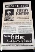 WWII ERA GERMAN THIRD REICH MEIN KAMPF AD POSTER