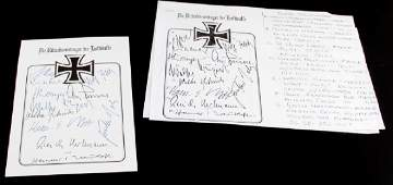 WWII GERMAN LUFTWAFFEE AUTOGRAPHS W ADOLF GALLAND