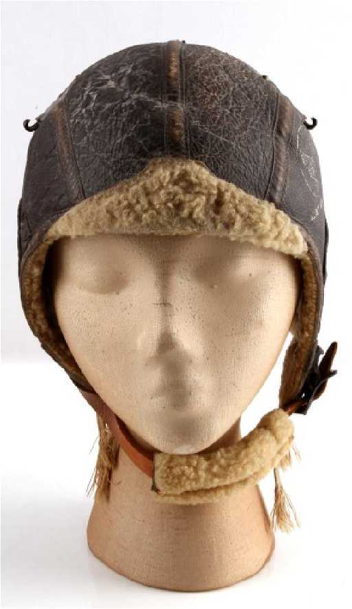 e6852e26778 WWII US AIR FORCE LEATHER FLYING HELMET TYPE B6