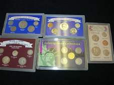 US COIN SET LOT OF 5 V NICKEL PROOF SILVER MERCURY MORE