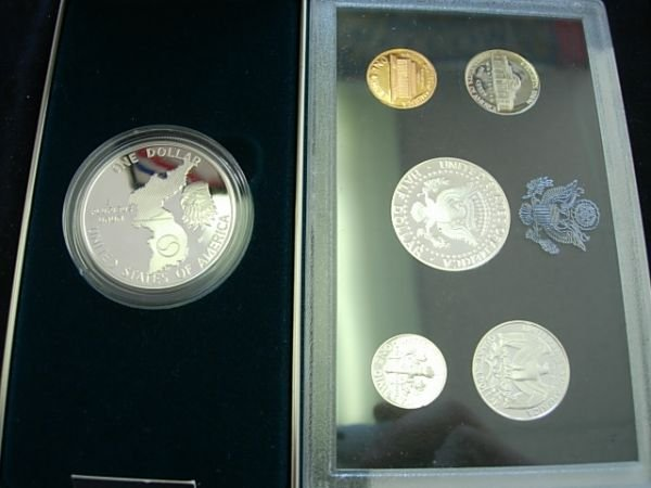 1994 SILVER PROOF SET WITH 1991 KOREAN COMMEMORATIVE