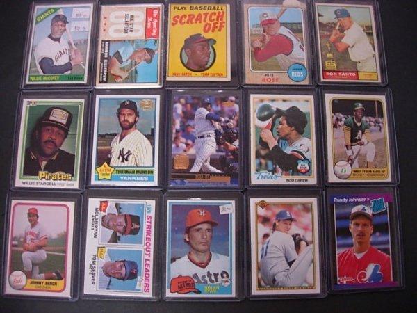 LOT OF 15 BASEBALL CARDS TOPPS 1960'S & NEWER