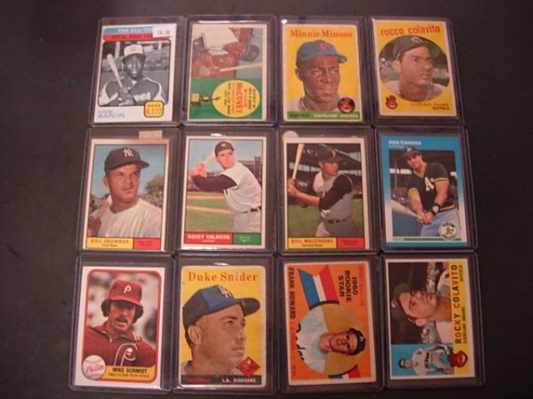 TOPPS BASEBALL CARD LOT OF 12 1950'S TO 1990'S