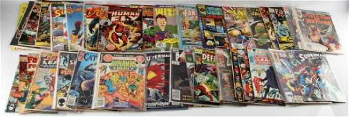 LOT OF 60 SILVER AND BRONZE AGE COMICS