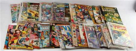 LOT OF 50 SILVER AND BRONZE AGE COMIC BOOKS