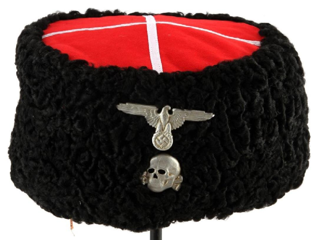bd7d77263 WWII GERMAN RUSSIAN COSSACKS WAFFEN SS PAPAKHA HAT