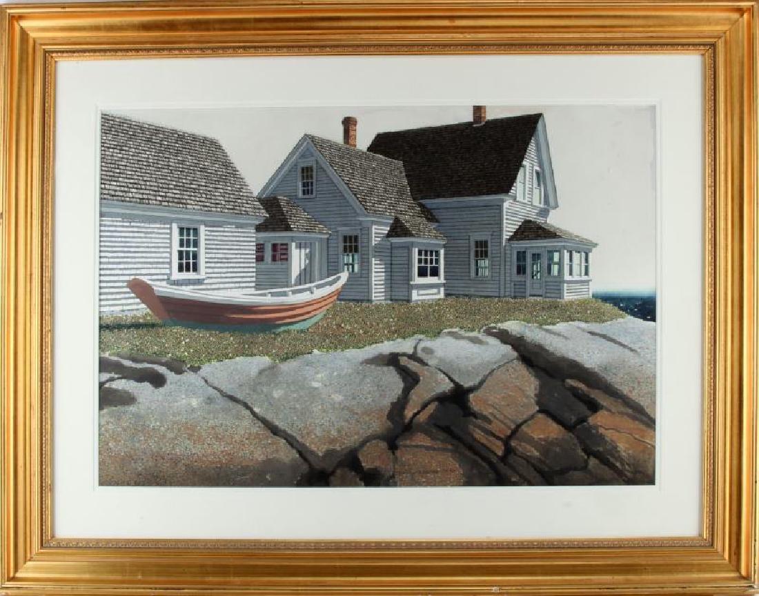 DAVID DODGE GRAY WATERCOLOR HOUSE PAINTING